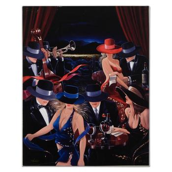 "Victor Ostrovsky, ""Desert Party"" (NFS) Ltd Ed Hand Embellished Giclee on Stretched Canvas, Hand Signed. (Disclaimer)"