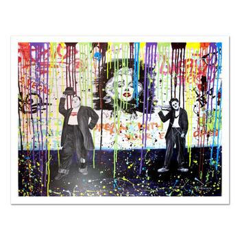 "Nastya Rovenskaya- ""Laurel and Hardy"" Ltd Ed on Canvas, Numbered and Hand Signed with Certificate of Authenticity. $3,000"