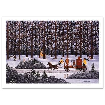 "Jane Wooster Scott! ""Dashing Through the Snow"" Ltd Ed Lithograph, Numbered and Hand Signed with Certificate!"