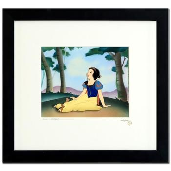 """Disney """"A Smile and a Song"""" D23 Limited Edition Hand Inked & Hand Painted Framed Animation Cel; with COA."""