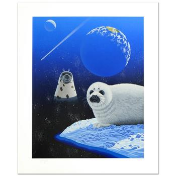 """William Schimmel! """"Our Home Too IV (Seals)"""" Ltd Ed Serigraph, Numbered and Hand Signed with Certificate! $1,000"""