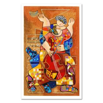 """Dorit Levi, """"Romantic Dancing"""" Limited Edition Serigraph, Numbered and Hand Signed with Certificate of Authenticity. $150"""