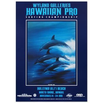 "Wyland! ""Dolphin Trio"" Poster."