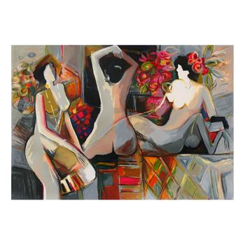 """Isaac Maimon, """"Nude Reflections"""" Limited Edition Serigraph, Numbered and Hand Signed with Letter of Authenticity. List $700"""