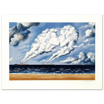 """Rafal Olbinski! """"Charismatic Impulse"""" Ltd Ed Hand Pulled Original Lithograph Numbered and Hand Signed, with Cert! List $1,050"""