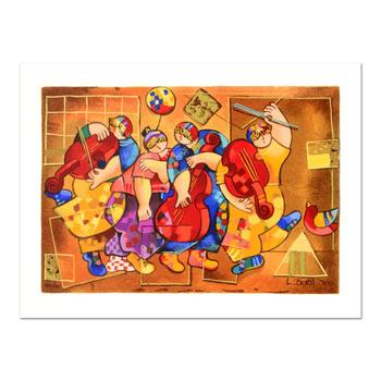 """Dorit Levi, """"Salsa Boogie"""" Limited Edition Serigraph, Numbered and Hand Signed with Certificate of Authenticity."""