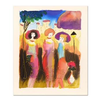 Moshe Leider, Original Watercolor Painting, Hand Signed with Certificate of Authenticity. List $750