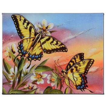 """Martin Katon! """"Tiger Swallowtail"""" Ltd Ed Giclee on Gallery Wrapped Canvas, Numbered and Hand Signed with Certificate! List $500"""