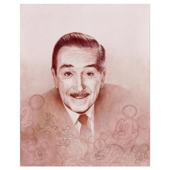 "Kupka & Disney! ""Walt Portrait"" Ltd Ed Giclee on Canvas, No. and Hand Signed w/COA! $525"