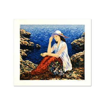 """Igor Semeko - """"Lady by the Cliffside"""" Limited Edition Serigraph, Numbered and Hand Signed!"""