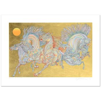 """Guillaume Azoulay! """"Lever De Soleil"""" Limited Edition Serigraph w/Hand Laid Gold Leaf, Numbered and Hand Signed w/Cert! $3,500"""