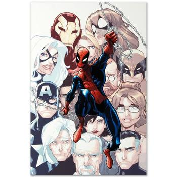 """Marvel! """"The Amazing Spider-Man #648"""" Ltd Ed Giclee on Canvas by Humberto Ramos, Numbered with Certificate! List: $500"""
