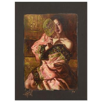 """George Tsui, """"Fan Dance"""" Limited Edition Chiarograph, Numbered and Hand Signed with Letter of Authenticity."""
