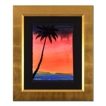"""Wyland - """"Paradise"""" Framed Original Watercolor Painting, Hand Signed with Certificate of Authenticity. List $7,840"""