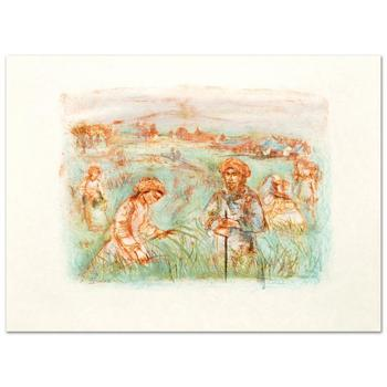 """Edna Hibel (1917-2014)! """"Fields Near Chartres"""" Limited Edition Lithograph, Numbered and Hand Signed with Certificate! List $665"""