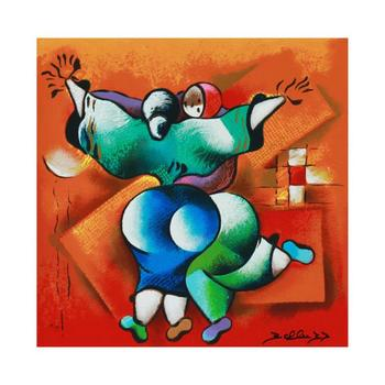 "David Schluss, ""Love Dance"" Limited Edition Serigraph, Numbered and Hand Signed with Letter of Authenticity. List $500"