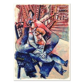 """Theo Tobiasse (1927-2012), """"Venice Et L'Enfant Prophite"""" Ltd Ed Lithograph, Numbered and Hand Signed with LOA. $3,950"""