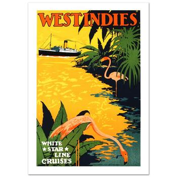 """""""White Star Lines/West Indies"""" Hand Pulled Lithograph by the RE Society with Certificate! List $325"""