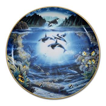 """Robert Lyn Nelson - """"Sunlit Glow"""" Ltd Ed Porcelain Collectors Plate from the Underwater Paradise Series, No. w/Cert."""