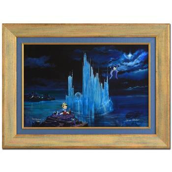"""Peter (d. 2007) & Harrison Ellenshaw! """"Blue Castle"""" Framed Ltd Ed Giclee on Canvas, No. & Hand Signed w/Cert! $1,100"""
