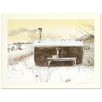 "William Nelson - ""Hunter's Shack"" Limited Edition Lithograph, Numbered and Hand Signed by the Artist! List $500"