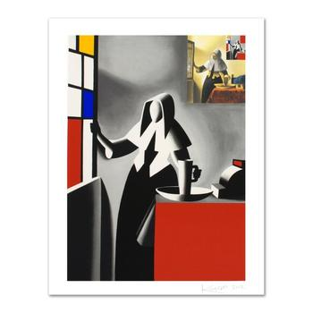 """Mark Kostabi - """"Progress Of Beauty"""" Limited Edition Serigraph, Numbered and Hand Signed with Certificate! $1,200"""