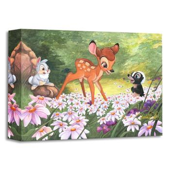 """""""The Joy a Flower Brings"""" Limited edition gallery wrapped canvas by Michelle St Laurent from the Disney Treasures collection."""