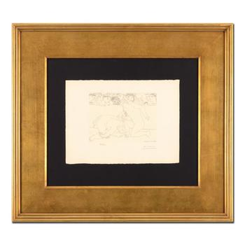 """Picasso (1881-1973) - """"Minotaur Vaincu (Bloch 197)"""" Framed Ltd Ed Lithograph, Numbered 169/300 and Plate Signed with LOA"""