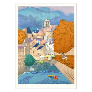 """Georges Lambert (1919-1998) - """"Vannes"""" Limited Edition Lithograph, Numbered and Hand Signed!"""