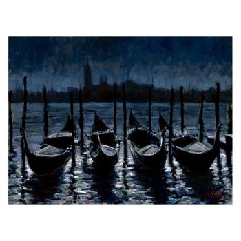 """Fabian Perez """"Venetian Nights"""" Hand Embellished Limited Edition Canvas; Hand Signed, with COA."""