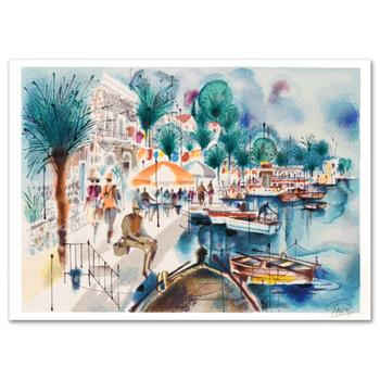 """Shmuel Katz (1926-2010)! """"Tiberias"""" Limited Edition Serigraph, Numbered and Hand Signed with Certificate!"""