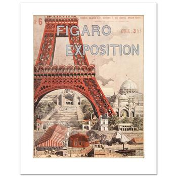 """Figaro Exposition"" Hand Pulled Lithograph by the RE Society, Image Originally by Grassel with Certificate! List $225"