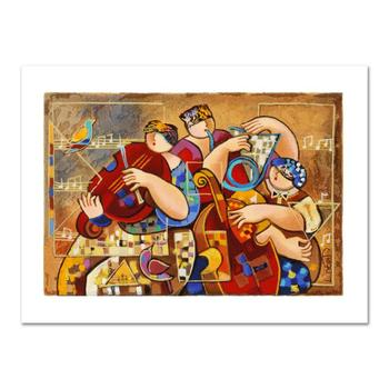 "Dorit Levi, ""Salsa Fun"" Limited Edition Serigraph, Numbered and Hand Signed with Certificate of Authenticity."