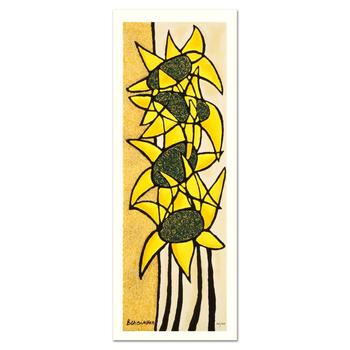 """Avi Ben-Simhon - """"Sunflower Trio"""" Limited Edition Serigraph, Numbered and Hand Signed with Certificate. $400"""