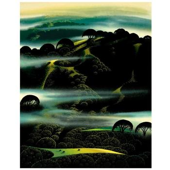 "Eyvind Earle (1916-2000), ""Fog Draped Hills"" Limited Edition Serigraph on Paper; Numbered & Hand-Signed; COA."