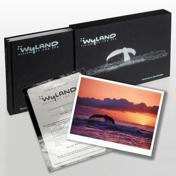 """Wyland: Visions Of The Sea""(2008) Ltd Ed Art Book, w/No., Hand Signed & Thumb-Printed Front Page & Lithograph! W/Cert List $750"
