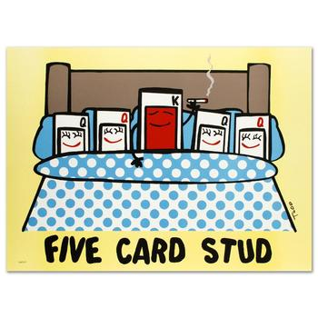 "Todd Goldman! ""Five Card Stud"" Ltd Ed Lithograph, Numbered and Hand Signed with Certificate of Authenticity! List $750"