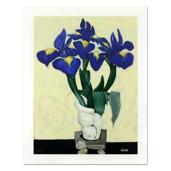 "Brenda Barnum, ""Irises"" Limited Edition Serigraph, Numbered and Hand Signed with Certificate of Authenticity. List $750"