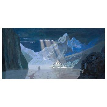 "David Womersley, ""Arendelle in Winter"" Hand Embellished Limited Edition Canvas from Disney Fine Art. Hand Signed and with COA"
