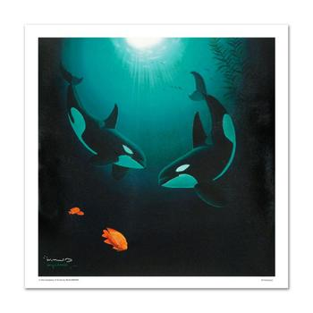 "WYLAND! ""In the Company of Orcas"" LTD ED Giclee on Canvas, Numbered and Hand Signed with Certificate! List $2,910"