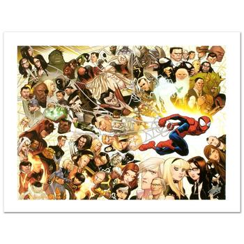 "Marvel! ""Ultimate Spider-Man #150"" Ltd Ed Giclee by David Lafuente, No. & Hand Signed by Stan Lee w/Cert! List $900"