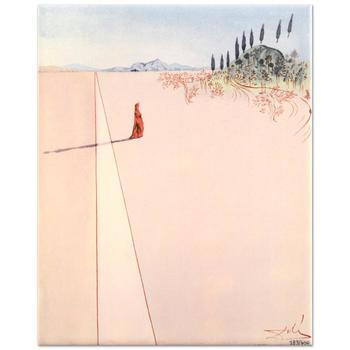 "Salvador Dali (1904-1989) - ""Departure for the Great Journey"" Ltd Ed Ceramic Tile, Numbered with COA! List: $450"