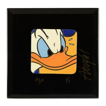 "Allyson Vought, ""Donald Duck"" Limited Edition Ceramic Tile, AP Numbered 1/1 and Hand Signed with Letter of Authenticity. $500"