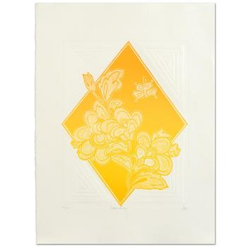 "Hari Hockey - ""Dream Flowers"" Limited Edition Embossed Lithograph, Numbered and Hand Signed by the Artist! List $400"