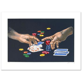 """Waldemar Swierzy (1931-2013)! """"First Gamble"""" Limited Edition Lithograph, Numbered and Hand Signed with Certificate! List $950"""