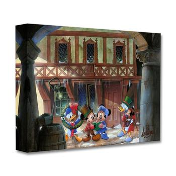 """Joyful Tidings"" Limited Edition Gallery Wrapped Canvas by James C. Mulligan from the Disney Fine Art Treasures collection; COA."