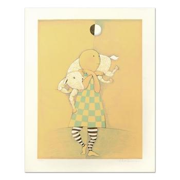 "Graciela Rodo Boulanger - ""Boy with Lamb"" Limited Edition Lithograph, Numbered and Hand Signed."