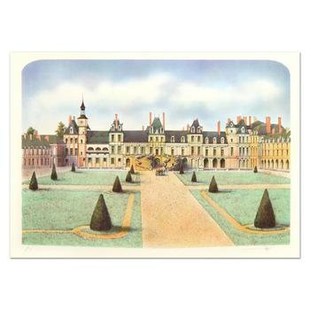 "Rolf Rafflewski - ""Chateau de Fontainebleau"" Limited Edition Lithograph, Numbered and Hand Signed."
