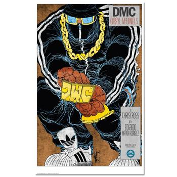 """The Legend On The Mic"" is a Chromatic Pigment Ink Limited Edition, Numbered and Hand-Signed by ""DMC""!"