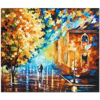 "Leonid Afremov ""Through the Night"" Limited Edition Giclee on Gallery Wrapped Canvas, Numbered and Signed; COA."